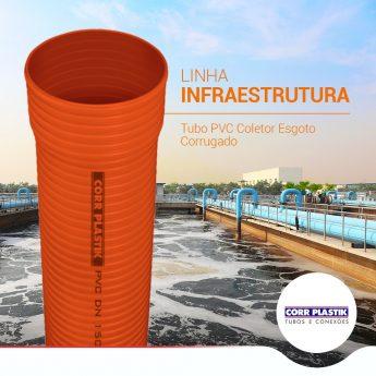corrugado pvc linha infraestrutura corr plastik
